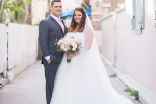 Bride and groom portraits at the White Room