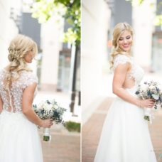 Kathleen wearing her gorgeous Narin Moda dress from Something New Bridal Boutique.
